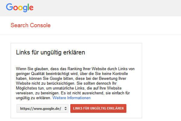 Das Google Disavow ermöglicht die Entwertung schädigender Backlinks