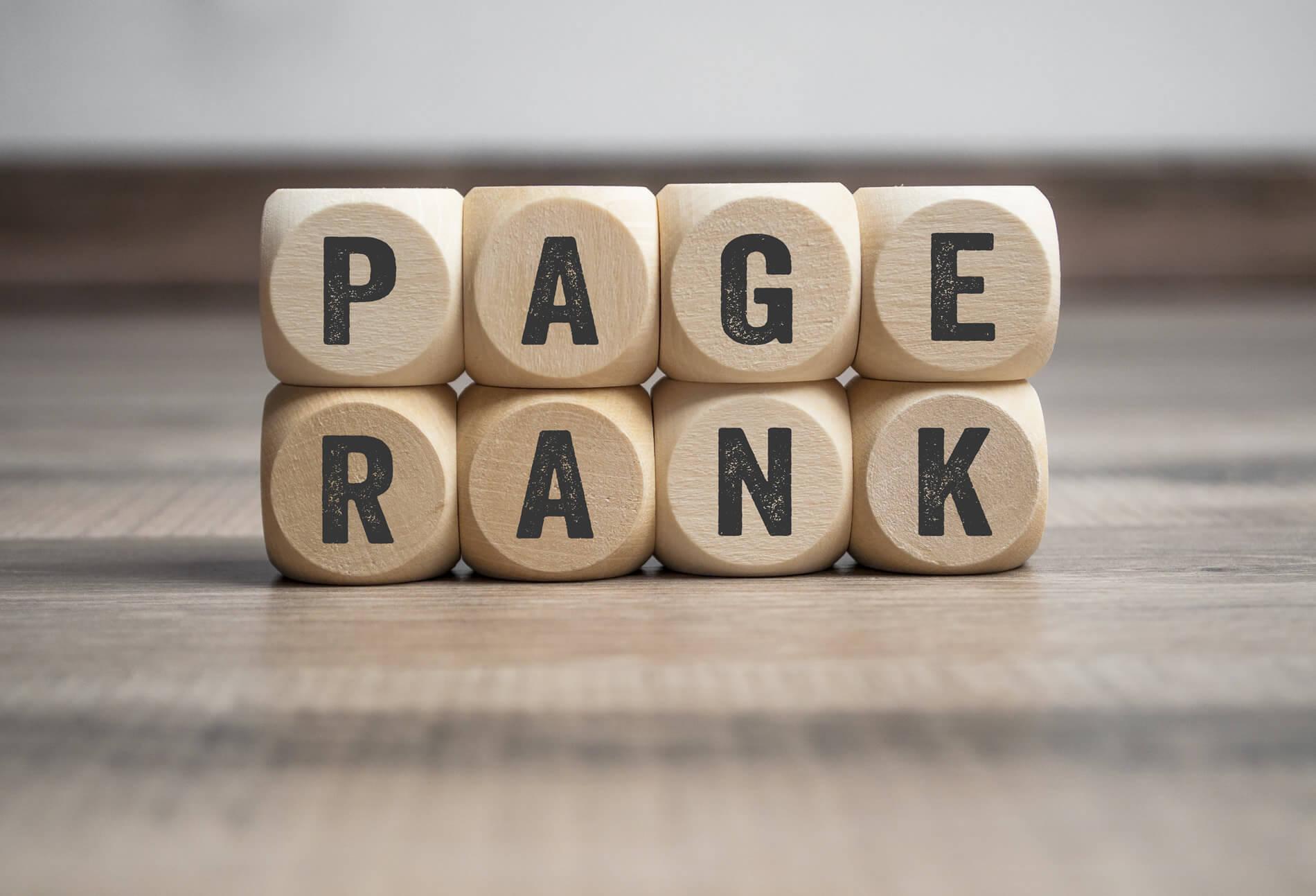 Der Pagerank war ursprünglich der dominierende Faktor im Google Ranking